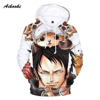 Aikooki Hot 3D One Piece Hoodies Men Sweatshirt Hoodie 3D Print Fashion Autumn Winter Hoody Polluvers Male Cap Hooded Clothes