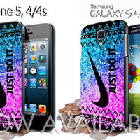 nike glitter cevron aztec design for iphone 4 /4S / 5 /5c/5s case samsung galaxy S3 / S4 case