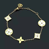 LV Louis Vuitton New fashion women personality chain bracelet Gold