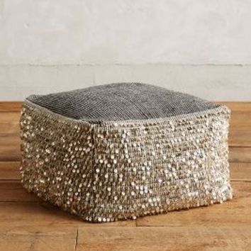 Paillette Pouf by Anthropologie in Natural Size: One Size Furniture