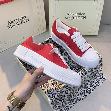 Alexander McQueen  Women Casual Shoes Boots fashionable casual leather0420cx