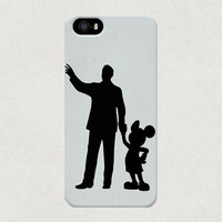 Walt Disney & Mickey Mouse Silhouette iPhone 4 4s 5 5s 5C Samsung Galaxy S3 S4 Case