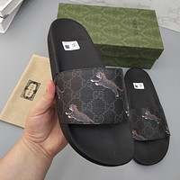 GG summer non-slip outer wear men's and women's double G slippers shoes