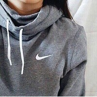 NIKE Women Fashion Hooded Top Sweatshirt Sweater Hoodie Pullover