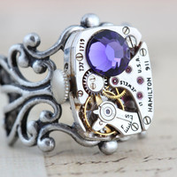 Steampunk Ring Steam Punk Jewelry  Vintage by inspiredbyelizabeth