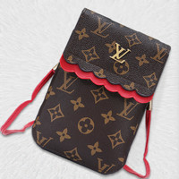 Louis Vuitton New Joker Simple Fashion Vertical Women's Bag Shoulder Messenger Bag Mobile Phone Case 3#