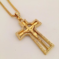 Stylish New Arrival Jewelry Gift Shiny Hip-hop Club Cross Rack Necklace [8439433347]