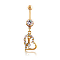 New Charming Dangle Crystal Navel Belly Ring Bling Barbell Button Ring Piercing Body Jewelry = 4661634948