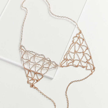 8 Other Reasons Illusions Bralette Body Chain   Urban Outfitters