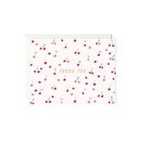 Cherries Thank You Card (Gold Foil)