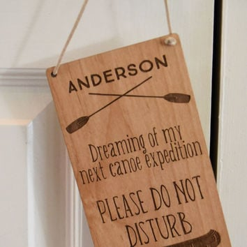 Personalized Do Not Disturb Sign - Wood Door Sign - Wood Signs - Door Plaques - Laser Engraved Sign