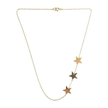 Handmade 3 Star Necklace