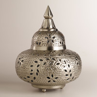 Small Moroccan Punched Metal Lamp - World Market