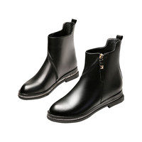 Genuine Leather Women Motorcycle Boots British