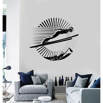 Wall Sticker Vinyl Decal Competition Ski Jumping Mountains Sport Lifestyle Unique Gift (n1311)