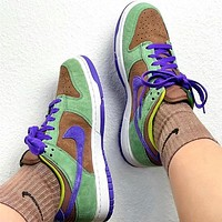Nike Dunk Low SP Veneer Brown green ugly duckling casual board shoes