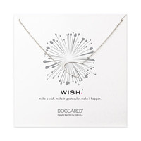 big soldered wishbone necklace, sterling silver - Dogeared