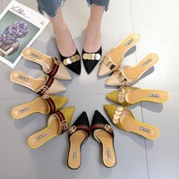Stylish Design Summer Korean Pointed Toe With Heel Sandals [11302483220]