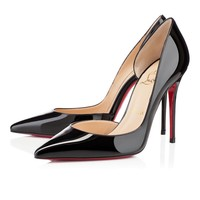 Best Online Sale Christian Louboutin Cl Iriza Black Patent Leather 100mm Stiletto Heel Classic