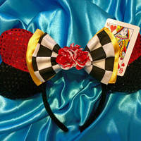 Heartless Queen Inspired Mouse Ears Headband
