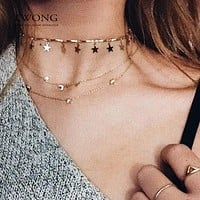 Tiny Star Choker Necklace for Women