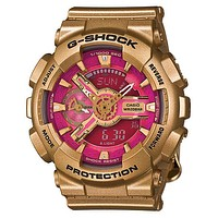Casio G-Shock S Series - Deep Pink & Gold - World Time - Anti-Magnetic - 200m