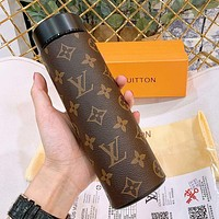 Onewel LV Coffee Monogram Water Cup 304 Stainless Steel Vacuum Smart Temperature Insulation Cup
