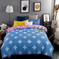 Nordic style Bedding Set 4pcs Duvet Cover set twin full queen king size bed set printed sheet bed linen bedclothes Pillowcases