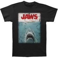 Jaws Men's  Jaws Poster T-shirt Black