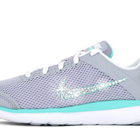 Girls' Nike Flex 2016 - Crystallized Swarovski Swoosh - Big Kids' (3.5y-7y) - Grey