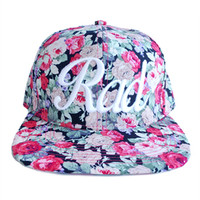 The Antique Snapback Hat in Floral