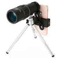 16X52 upgrade HD Monocular Telescope Handheld scope For Outdoor Hunt with Universal smart phone holder and tripod Watch soccer