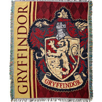 Harry Potter Gryffindor Woven Tapestry Throw Blanket
