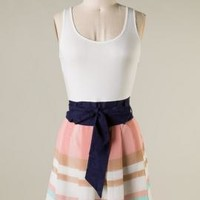Resort Rendezvous Sleeveless Colorblock Dress in Blush | Sincerely Sweet Boutique
