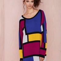 Nasty Gal Block It Out Sweater
