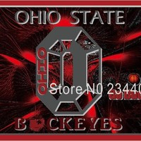 Ohio State Buckeyes USA Stripe Star Banner Flag 3X5FT Custom NCAA NHL MLB NFL NBA Team Fans Flag National Flag Country Flag 020