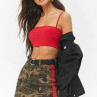 Contrast Camo Print Mini Skirt