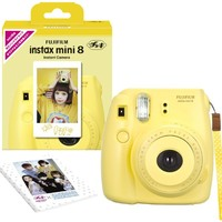 Fujifilm Instax Mini 8 INS MINI 8 YELLOW N Instant Camera 62 x 46mm (Yellow)