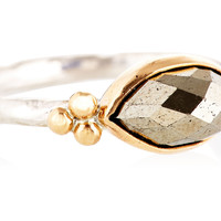 10K Marquise Pyrite Ring, Stone & Novelty Rings