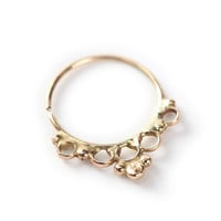 Tribal septum jewelry 14k yellow gold - Septum ring - nose ring - tragus - Nose jewelry - tragus