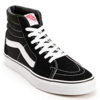 Vans SK8 Hi Black & White Skate Shoes (Mens)