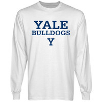 Yale Bulldogs Team Arch Long Sleeve T-Shirt - White