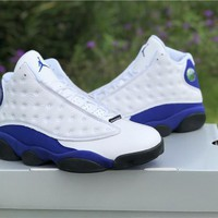 Air Jordan 13 Retro Aj13 White/royal Blue Sneaker Shoes Us5.5-13