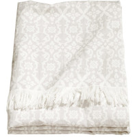 Jacquard-weave Cotton Throw - from H&M