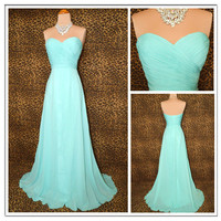 WowDresses — Elegant AQUA GRACE TIMELESS GLAMOUR PROM DRESS
