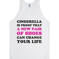 Proof That Shoes Can Change Your Life-Unisex White Tank