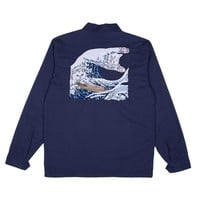The Great Wave Military Jacket (Navy Blue) | RIPNDIP