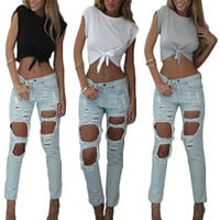 Hot New 2016 Summer Sexy Women's Crop Tops Short Sleeve  T Shirt Punk bustier crochet Cropped Top