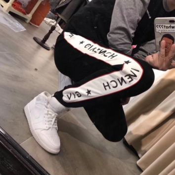 Givenchy Women Men Stretch Leggings Sweatpants Exercise Fitness Sport Pants Trousers