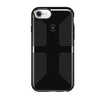 LMFON2D Speck Products CandyShell Grip Cell Phone Case for iPhone 8/7/6S/6 - Black/Slate Grey